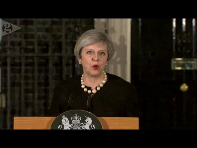 Theresa May's statement in full - video