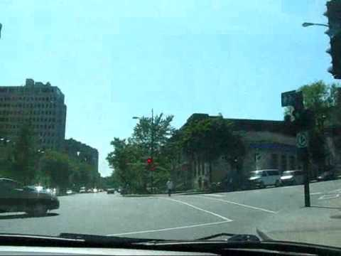 Montreal Travel: Downtown Montreal Drive towards Mount Royal