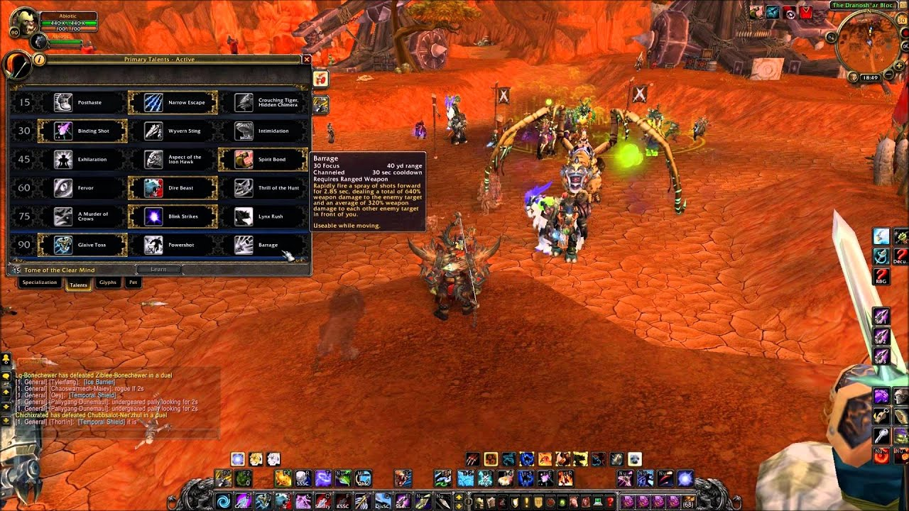 Wow 5 4 marksmanship hunter keybinding and macros youtube for Wow portent 5 4