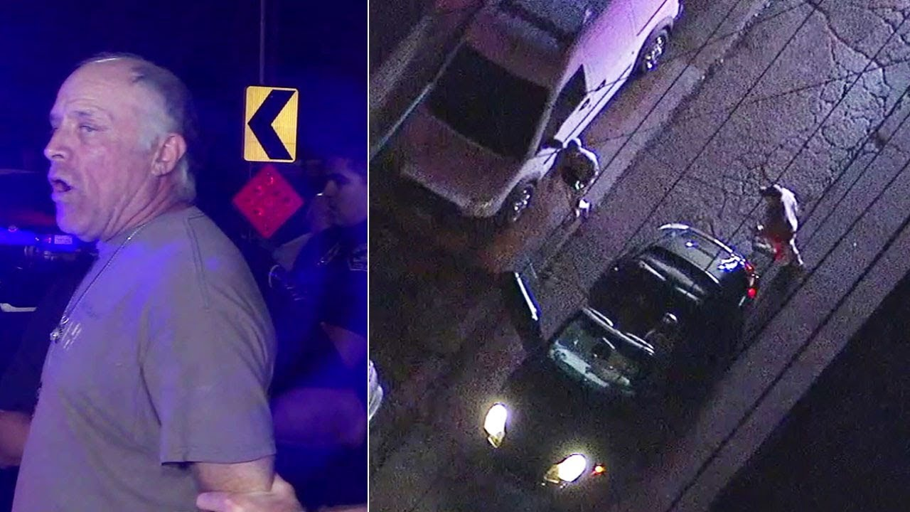 2  WHITE suspects in Porsche convertible arrested after chase in LA, Orange counties I ABC7