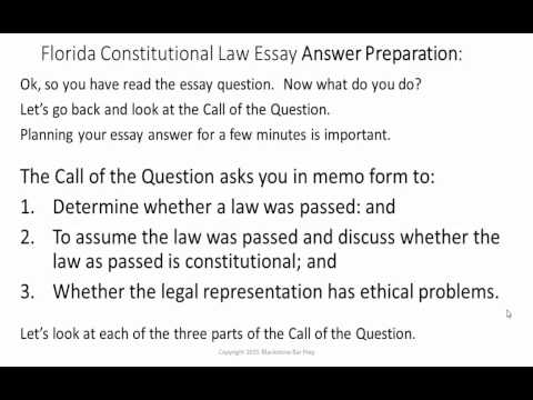 constitutional essay question The purpose of this chapter is to examine good and bad techniques in writing law essays using two essay titles – one on contract law and the other on the legal system and constitutional law for each title, the chapter first provides a poor and flawed answer to the question and then a much improved and acceptable answer to the question.