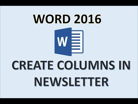 Word 2016 - Newsletter Columns - How To Create Add And Make Column Newsletters Design Tutorial In MS