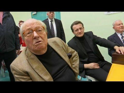 """Jean-Marie Le Pen: """"Si j'étais arbitre de boxe, je dirais que c'est un match nul"""""""