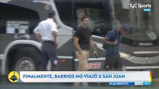 ¡SE VA AL ZENIT! El momento en el que Barrios se entera que no viaja con Boca a San Juan thumbnail