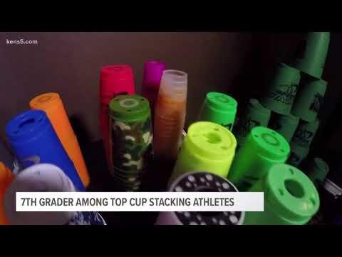 7th Grader among top cup stacking athletes