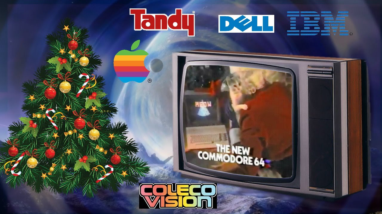 retro computer christmas tv commercials adverts compilation - Christmas Tv