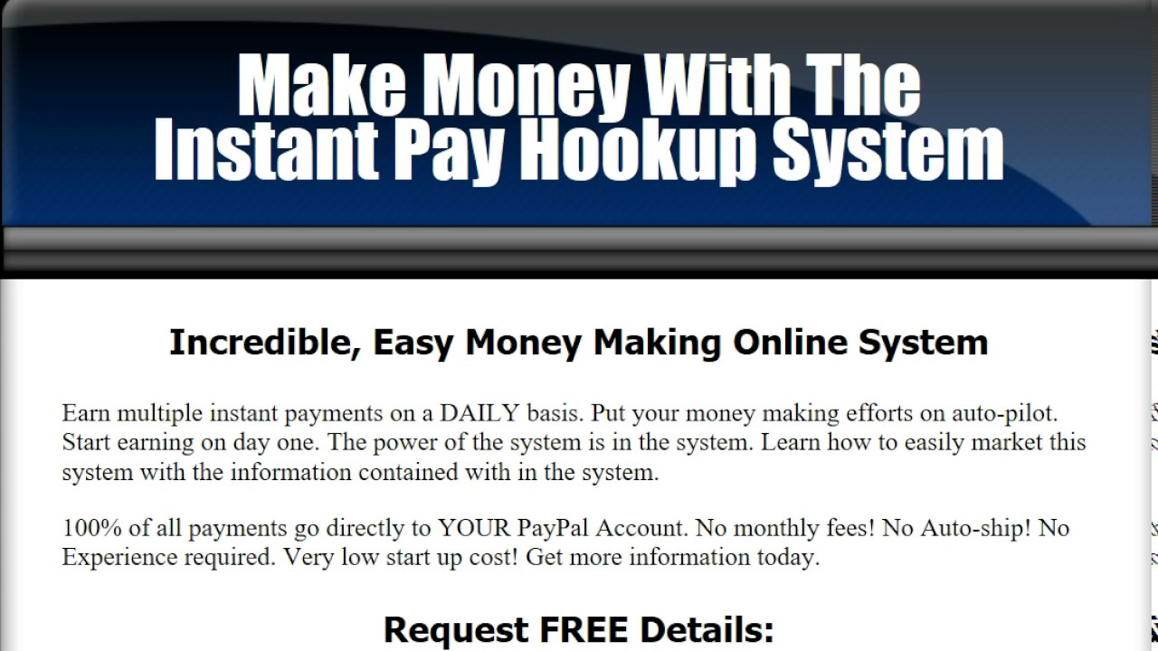 How to make money with online hookup