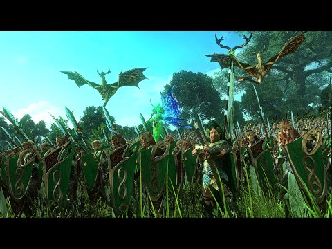 Wood Elves Vs skaven | Twisted and the Twilight 10,000 Unit Cinematic Battle | Total War Warhammer 2 |