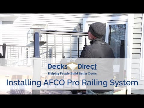 How to Install AFCO Pro Series Railing - YouTube
