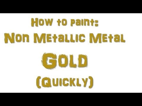 How to Paint Quick NMM Gold
