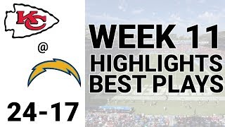 Chiefs vs Chargers Highlights Week 11 | NFL 2019