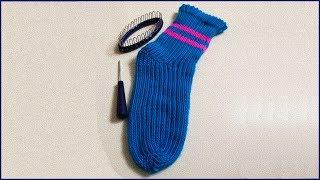 Носки на приспособлении. Вязание носков. Вязание носков для начинающих. Ч. 1 (Knitting socks. P. 1)