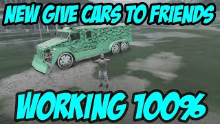 GTA 5 *BEST* WORKING GIVE CARS TO FRIENDS GLITCH NOW!/GTA V GIVE CARS TO FRIENDS PS4 VERSION