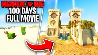 I Survived 100 Days In Hardcore Minecraft, In A Desert Only World...