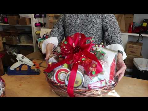 Custom Corporate Gourmet Gift Basket making