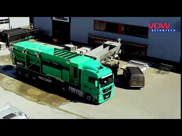 Mobile concrete plant for firma Otto Alte-Teigeler GmbH