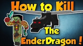 Easiest Way To Kill The Enderdragon (Minecraft 1.7.10) *Best Way*