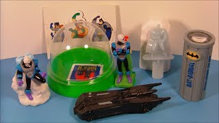 1997 THE ADVENTURES OF BATMAN and ROBIN SET OF 5 TACO BELL KID'S MEAL TOY'S VIDEO REVIEW