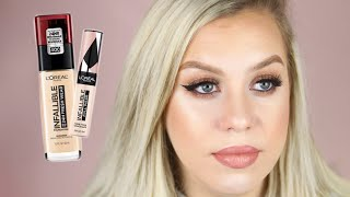 L'Oreal Infallible 24 Hour Fresh Wear Foundation Review/Wear Test on Dry Skin