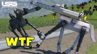 Space Engineers - Robotic Horse Jousting WTF