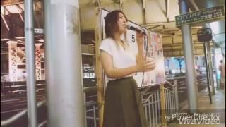 三宮での路上live◎ 今の時期にぴったりな曲(^^)