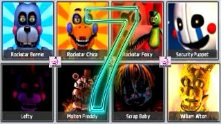 NEW Five Nights at Freddy s 7 .. FNAF 6 ALL ANIMATRONICS 2018