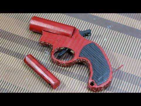 How To Make A Flare Gun - That Shoots - Cardboard gun