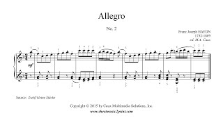 "Haydn : Allegro in F Major, No. 2 from ""12 Easy Pieces"""