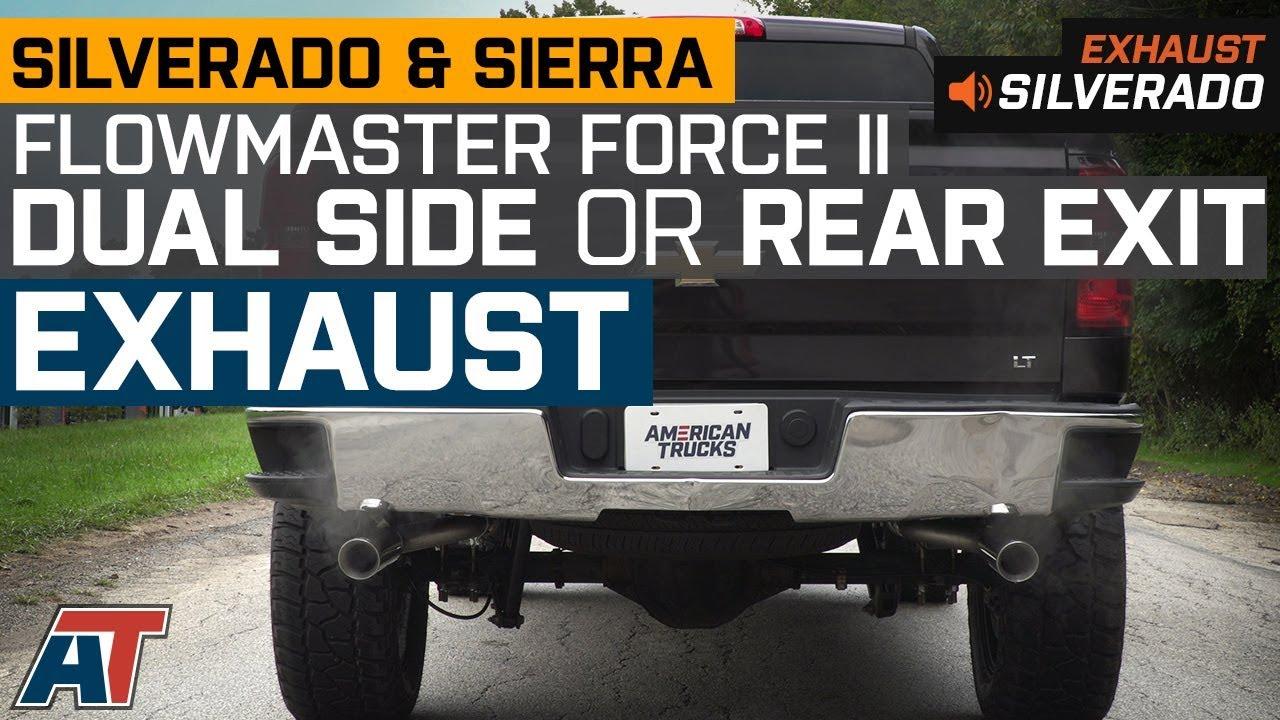 flowmaster force ii dual exhaust system side rear exit 14 18 5 3l silverado 1500