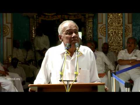 Talk by Mr. V. Srinivasan, Trustee, Sri Satya Sai Central Trust  - 24 apr 2015