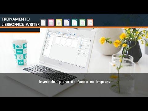 Inserindo plano de fundo no LibreOffice Impress