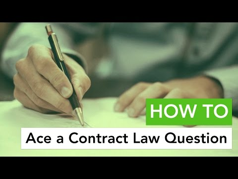 How to Ace a Contract Law Question