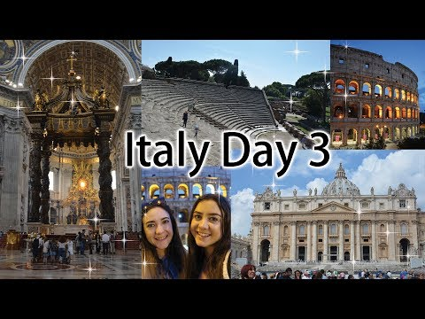 Italy Day 3: Vatican City Seeing the Pope, Rome Ruins & more!