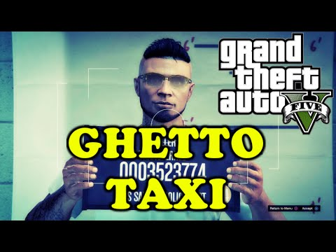 GTA V FIRST PERSON GTA 5 ONLINE  [PS4] GHETTO TAXI (FUNNY MOMENTS)