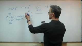 Decimal a Sexagesimal - Grados minutos segundos SECUNDARIA (3ºESO) matematicas