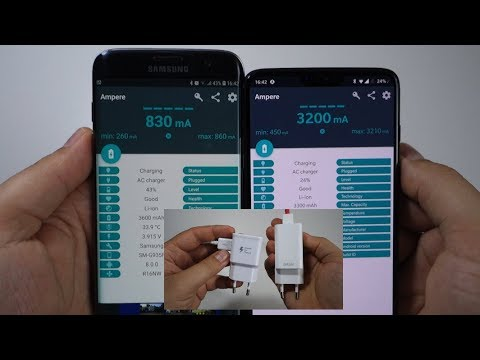 Dash Fast charging vs Samsung Adaptive fast charging - test Ampere