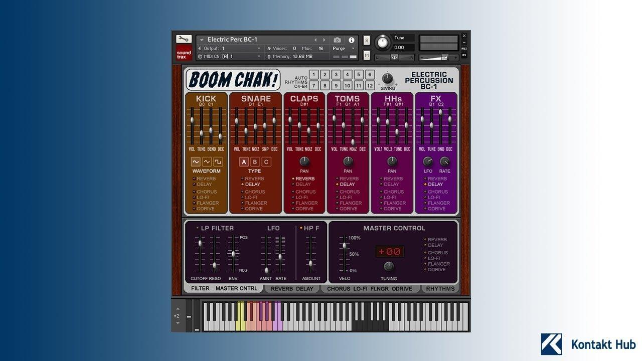 boom chak electric percussion kontakt drum machine youtube. Black Bedroom Furniture Sets. Home Design Ideas