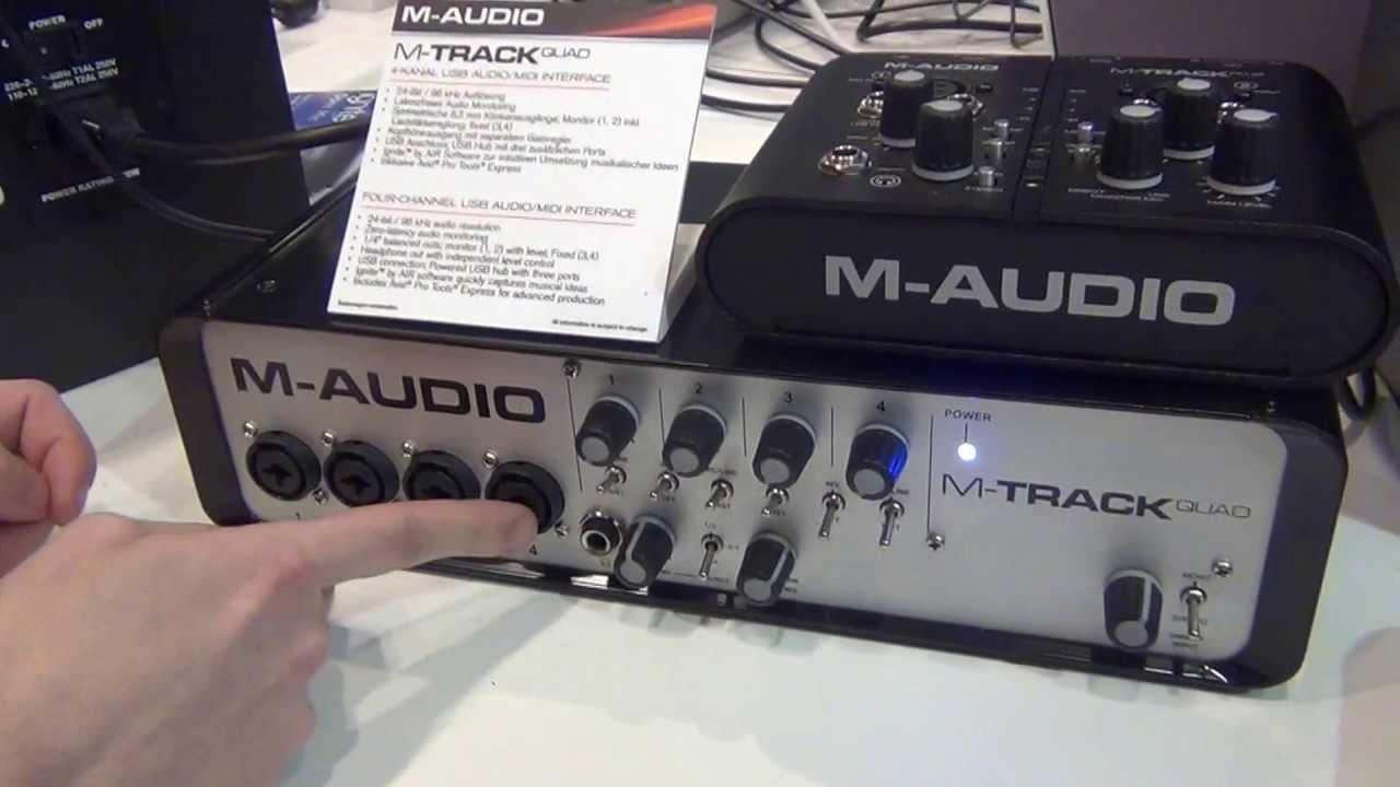 Musik Messe 2013 - M-audio M-track Quad