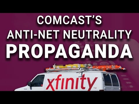 Comcast Spreading Anti-Net-Neutrality Propaganda