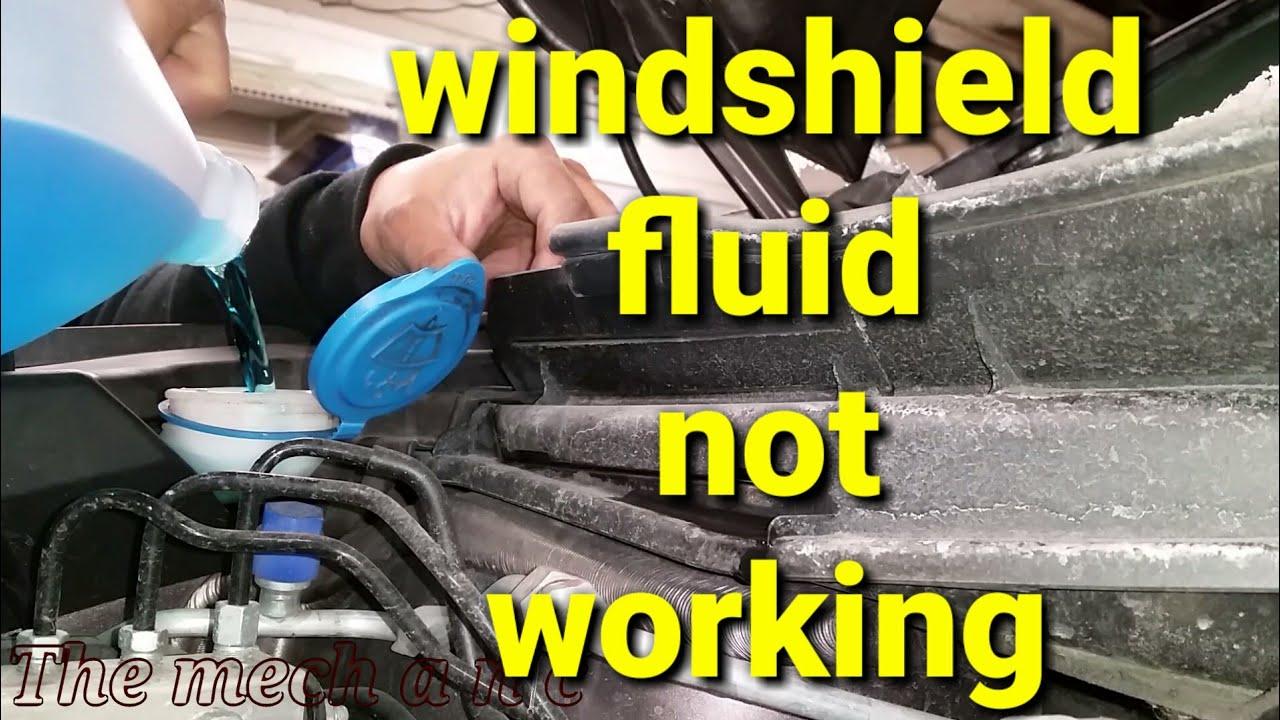 honda crv windshield washer pump youtube