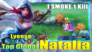 Natalia 100% Hiding Expert! Top Global Natalia Gameplay by Lyonse ~ Mobile Legends