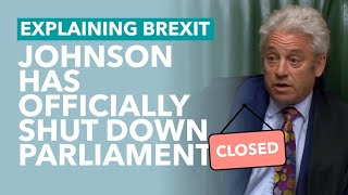 Johnson Officially Shuts Down Parliament - Brexit Explained