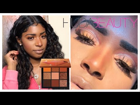 Huda Beauty Topaz Fall Makeup Tutorial for Black Women + Fenty Beauty Stunna Lip Paint Unbutton
