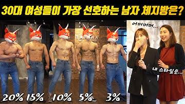 30대 여성들이 가장 선호하는 남자 몸은..?! (🔥뜨거운 리얼반응🔥)