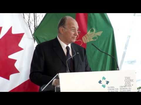 Aga Khan says to embrace differences at opening of Global Centre for Pluralism