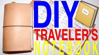 DIY - Leather Traveler's Notebook (With Pocket) - Step by Step