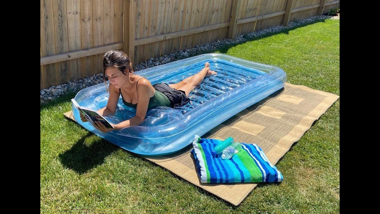 REY INFLATABLES Adult Tanning Pool - YouTube