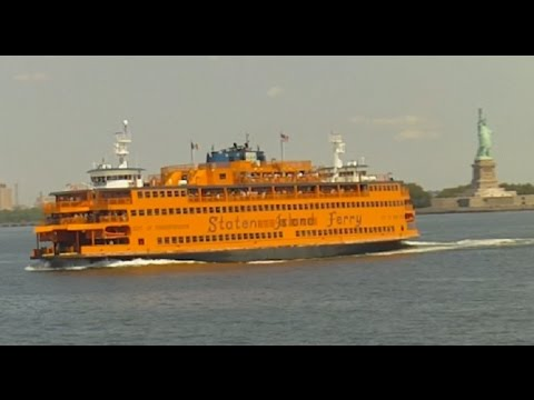 A Ride On New York's Staten Island Ferry Past The Statue Of Liberty