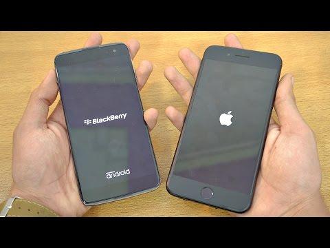 BlackBerry DTEK60 vs iPhone 7 Plus - Speed Test! (4K)