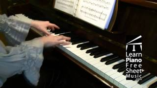 The Blue Danube Waltz by STRAUSS piano version